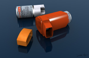 Lauren Hamm, medical illustration, medical illustrator, inhaler, asthma, product design, pharmaceutical