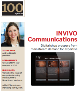 INVIVO named in MM&M Top 100