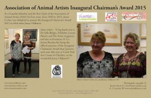 Anne Corless presents the 'Association of Animal Artists Inaugural Chairmans Award 2015′: