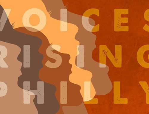 Voices Rising Philly Logo Design for January Women's March Philly