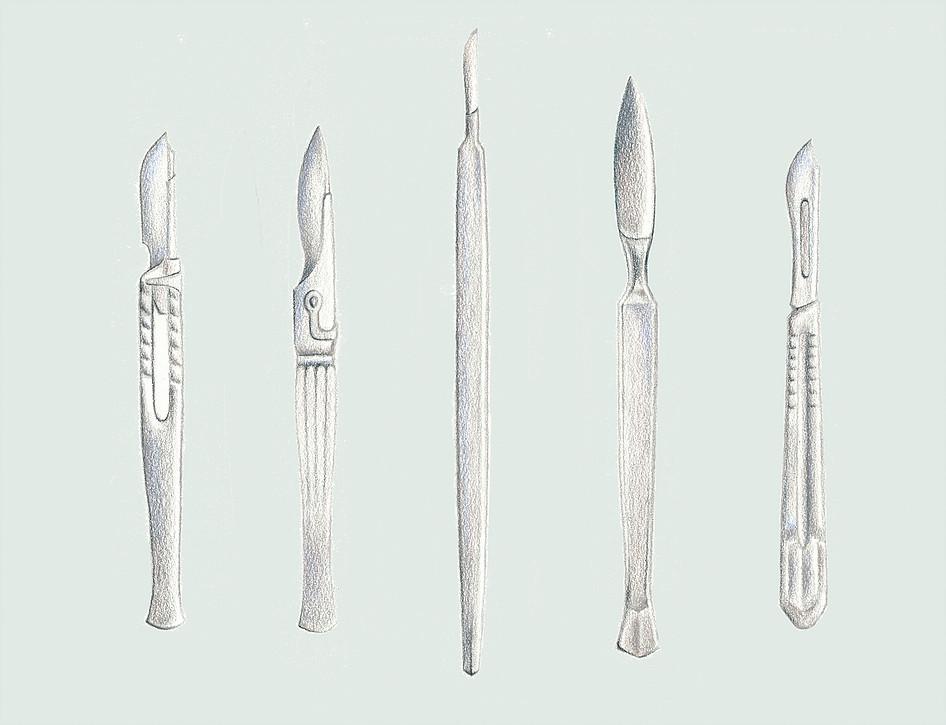 Emme Cheng - Surgical Knives Illustration