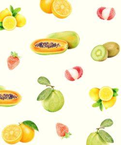 Emma Cheng - Vitamin C Fruits Illustration