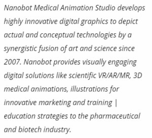 On the tech side, programs for medical 3D animation