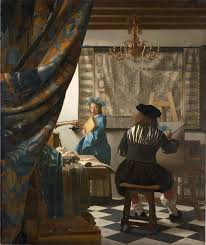 Vermeer's The Art of Painting , also known as The Allegory of Painting , or Painter in his Studio .