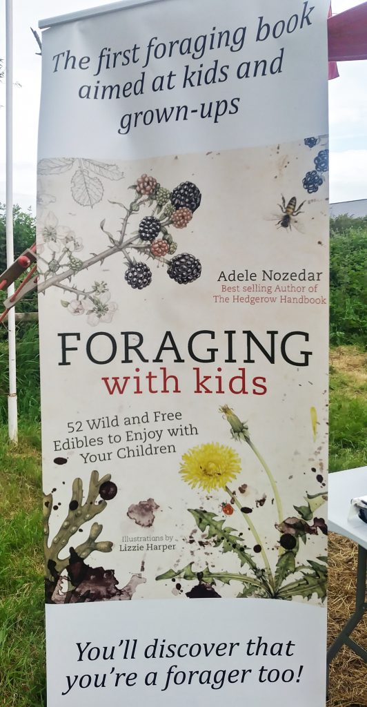 Hay festival foraging with kids ad