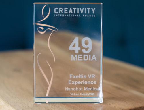 Nanobot Medical was honored for their 360/VR project at the 49th Creativity Awards