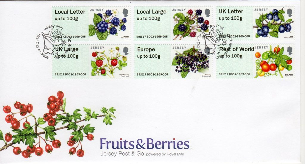Jersey Post fruits and berries