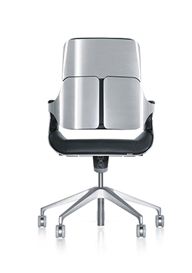 This image displays a 3D model of the mid back version of the Silver office chair rendering